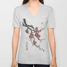 Cherry Blossom Two Unisex V-Neck