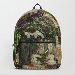 The Prince Looks down on Sleeping Beauty in the Garden of Delights by Kay Nielsen Backpack
