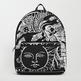 The Sun and Moon Tarot Cards   Obsidian & Pearl Backpack