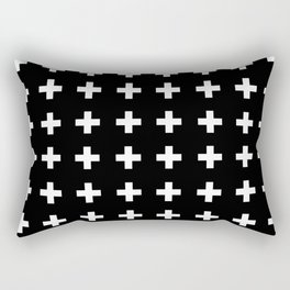 Swiss Cross Scandinavian Design Rectangular Pillow