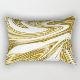 Liquid Gold Marble Rectangular Pillow