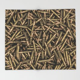Rifle bullets Throw Blanket