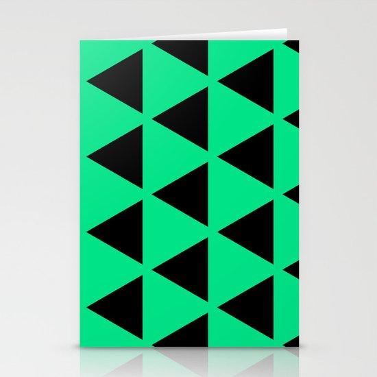 Sleyer Black on Green Pattern Stationery Cards