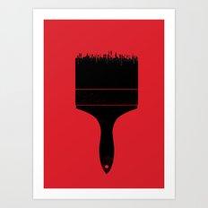 City Brush Art Print