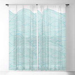 Waves Sheer Curtain