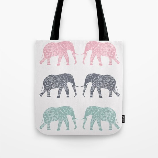 Elephant Pattern Tote Bag