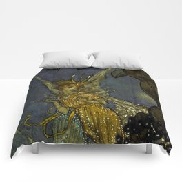 """""""The Fairy Queen"""" Fairy Tale Art by Edmund Dulac Comforters"""