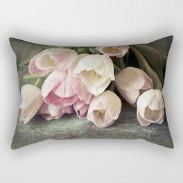 Vintage Tulips Rectangular Pillow