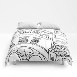 Beautiful Malaga City Comforters