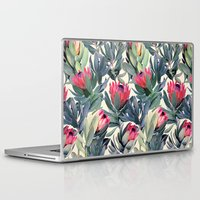her Laptop & iPad Skins featuring Painted Protea Pattern by micklyn