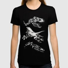 Jurassic Bloom - Black version. Black Womens Fitted Tee LARGE