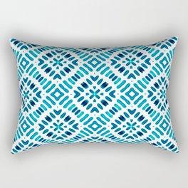 Shibori Watercolour no.7 Turquoise Rectangular Pillow