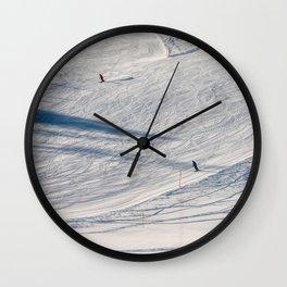 Skiers. Wall Clock