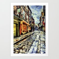 The Shambles York Van Gogh Art Print