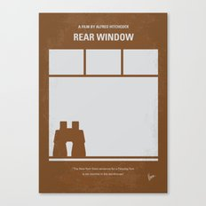 No238 My Rear window minimal movie poster Canvas Print