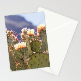 Prickly Pear Cactus Blooms, II Stationery Cards