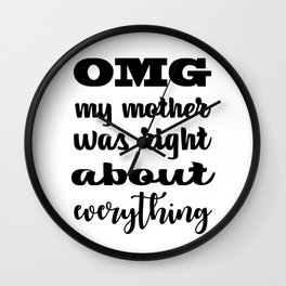Mother Quote Wall Clock