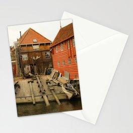 Old shipyard in the harbor of Spakenburg, The Netherlands Stationery Cards