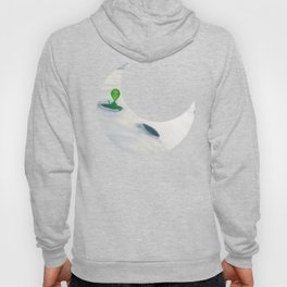 Little Green Man on Moon and Stars Hoody
