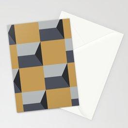 Machine Shop  ceramic tile pattern Stationery Cards