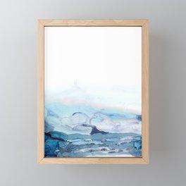 Indigo Abstract Painting   No.6 Framed Mini Art Print