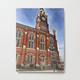 First Lutheran Church Side Entrance in Moline, Illinois Metal Print