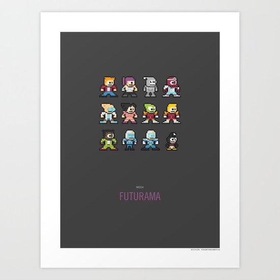 Mega Futurama Art Print