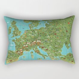 Animals of Europe Rectangular Pillow