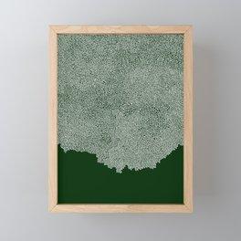 One Line Salt Flood Framed Mini Art Print