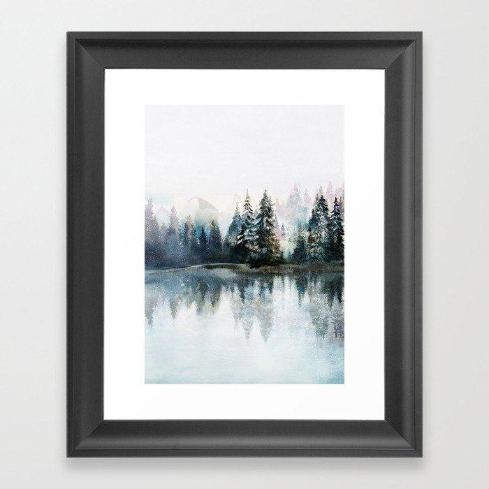 Winter Morning Gerahmter Kunstdruck