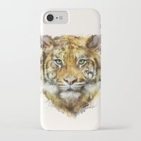 tiger iPhone & iPod Cases featuring Tiger // Strength by Amy Hamilton