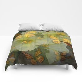 DECORATIVE MONARCH BUTTERFLY FLORAL DREAMS Comforters
