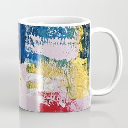 Metropolis: a vibrant abstract piece in pink blue red and gold by Alyssa Hamilton Art  Coffee Mug