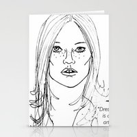 kate moss Stationery Cards featuring Kate Moss by Erika's Art Shoppe