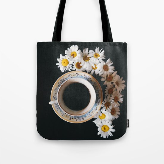 coffee and daisies Tote Bag