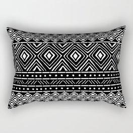 African Mud Cloth // Black Rectangular Pillow