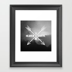 Heaven on Earth (B&W) Framed Art Print