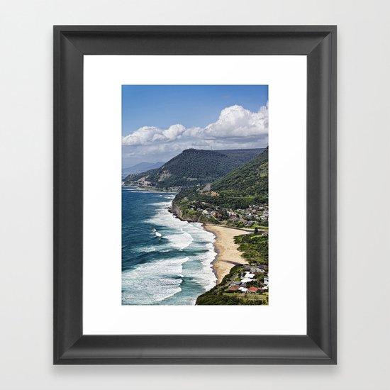 the great aussie south coast  Framed Art Print