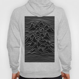 Black and white illustration - sound wave graphic Hoody