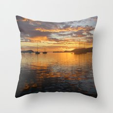 Sunrise on the Sea of Cortez. Throw Pillow