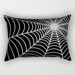 Spiderweb | Silver Glitter Rectangular Pillow