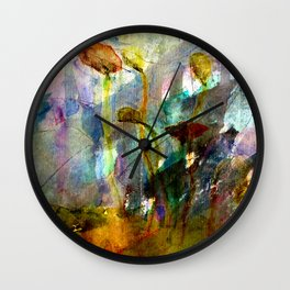 flowers on the field Wall Clock