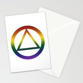 Alcoholics Anonymous Rainbow Pride Symbol Stationery Cards