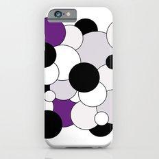 Bubbles - purple, black, gray and white Slim Case iPhone 6s