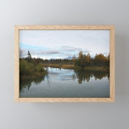 Autumn Lake Reflection Framed Mini Art Print