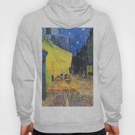 Café Terrace at Night by Vincent van Gogh Hoody