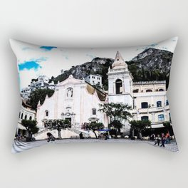 Piazza IX Aprile Rectangular Pillow