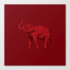 The Red Elephant Canvas Print
