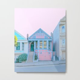 San Francisco Painted Lady Victorian House Metal Print
