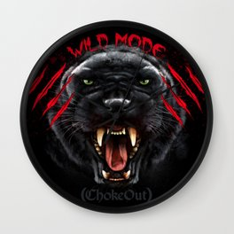 Wild Mode. Bjj, Mma, grappling Wall Clock